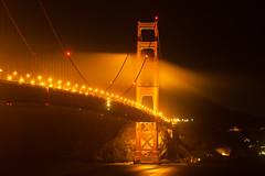 Fog Rolling in Golden Gate Bridge (yangster007) Tags: sanfrancisco california longexposure usa fog night landscape goldengatebridge goldengate nightshots citylandscape urbanlandscape sanfranciscofog
