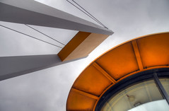Control Tower (S Cansfield) Tags: bridge orange abstract river nikon hull hdr thedeep d300 kingstonuponhull 18200mm photomatrix