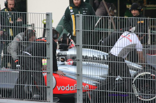 Sergio Perez at Formula One Winter Testing 2013