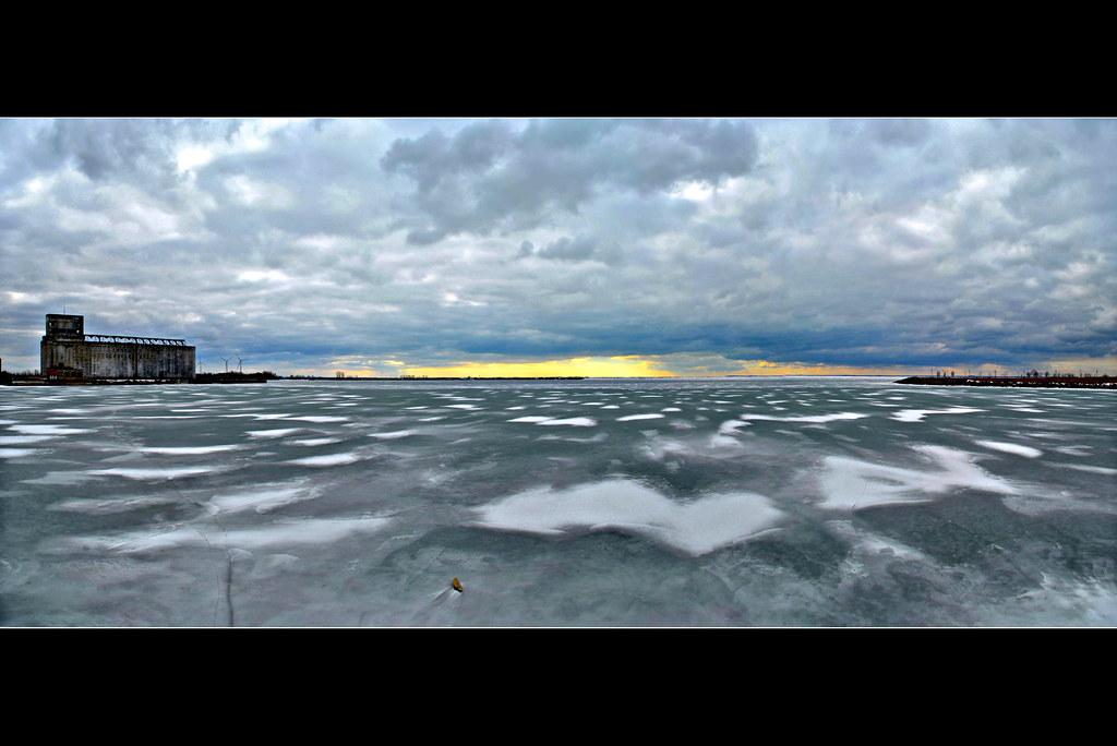 Lake Erie Ice Panorama Version