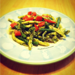 Green bean Pasta Pesto (IMJPRO) Tags: food color green classic cooking cheese dinner tomato photo blog potatoes yum dish post image web traditional picture cook plate bean pasta eat potato homemade website meal online oil garlic brunch basil noodles greenbeans noodle oliveoil pesto herb greenbean hearty imj playeattravelcom imjproductions