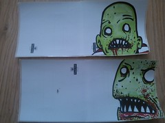 ZAS collabs (andres musta) Tags: art sticker stickerart zombie collab squad andres zas musta