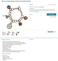Alice in Wonderland Charm Bracelet Watch - US Disney Store Product Page - 2013-03-11 (drj1828) Tags: us release watch charm bracelet disneystore aliceinwonderland 2013 productimage productinformation productpage aliceinwonderlandfashioncollection