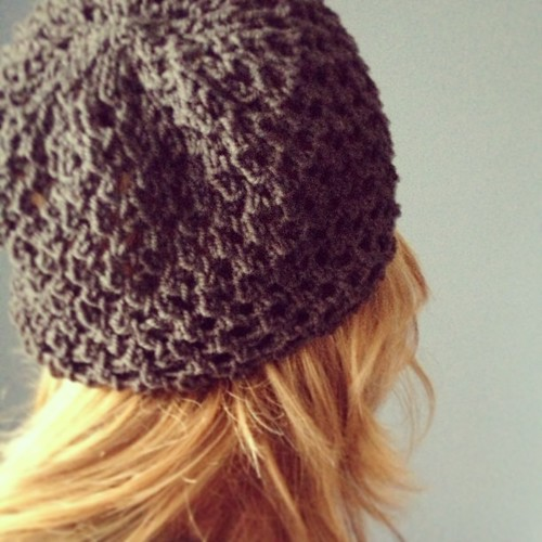 Sneak peek! Penpal Slouchy Hat #knitting pattern.