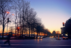 Richmond City at Twilight (TOTORORO.RORO) Tags: life street travel winter light sunset canada cold reflection tree tourism colors car silhouette vancouver reflections shopping lens living downtown bc view traffic zoom britishcolumbia sony tourist richmond alpha popular visitor hdr core attractions retractable oss nex greatervancouver mirrorless powerzoom lansdownecentre 1650mm alderbridge nex6 selp1650