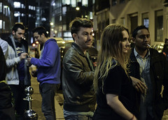 Afterhours (Sven Loach) Tags: uk england london club night drunk buildings outside evening office nikon break britain candid thecity streetphotography smoking late nightlife fags cigarettes pissed reportage afterhours clubbers punters d5100