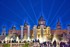 Fonts de Montjuic. Barcelona.- (ancama_99(toni)) Tags: barcelona blue light espaa water architecture night lights spain arquitectura nikon catalonia catalunya fountains fonts hdr 10favs 10faves 2013 25favs 25faves d7000 nikond7000 blinkagain