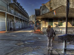 Finished the Nightshift (Ken Yuel) Tags: unitedstates neworleans earlymorning roadtrip s nightshift frenchquarter lousiana bourbonstreet streetwalker digitalagent kenyuel