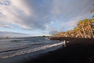 Sunrise on the Black Sand Beach