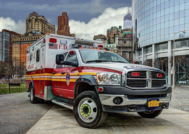 nyc newyorkcity red rescue ny building bus colors skyline architecture clouds photoshop truck reflections lights harbor nikon diesel manhattan nypd americanflag ambulance batterypark rig handheld dodge emergency ram medic paramedic ems fdny emt hdr lowermanhattan lightroom sirens 4500 sigma1020mm d90 photomatix reddit wowography 2013 162306 wowographycom
