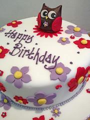 Flowery Owl Birthday