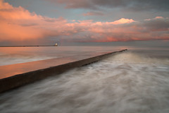 AND NOW SOME....... (Steve Boote..) Tags: longexposure light sunset lighthouse weather clouds pier rainbow harbour dusk jetty northumberland northumbria northsea manfrotto blyth northeastengland portofblyth leefilters ndgrads 06h steveboote sigma18200dcosf3556