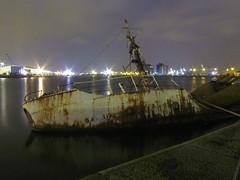 Sunken Boat (Picklewalsh) Tags: docks boat dock marine industrial ship birkenhead urbex