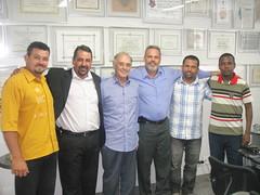 Vereador Zezinho Martins e equipe visitam gabinete (Arolde de Oliveira