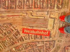 At Western Railway Station during Demolition and Rebuilding - For Odile -- Im Bahnorama Hauptbahnhof Wien - Am Sdbahnhof beim Westbahnhof stehen (hedbavny) Tags: vienna wien roof red rot tower typography austria sterreich 5 haus z