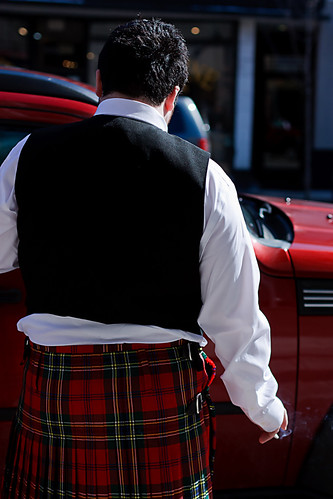 Figure in Kilt, with Cigarette