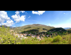 Panorama (Sergio Verrecchia - Digital Imaging Technician) Tags: blue summer sky mountain mountains green primavera grass clouds montagne spring nuvole village estate erba cielo montagna musictomyeyes molise paese filignano heartawards sergioverrecchia