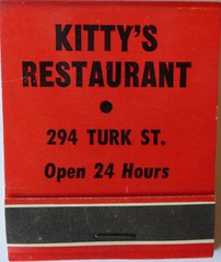 KITTY'S RESTAURANT SAN FRANCISCO CALIF (ussiwojima) Tags: california advertising francisco kittys matchbook matchcover restaurantkittysrestaurantsan