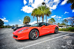 Ferrari 458 Spider (Jason Sha'ul) Tags: red sky car clouds spider orlando italian nikon parkinglot automobile florida convertible wideangle automotive ferrari dslr supercar v8 dealership sportscar exoticcar centralflorida sigma1020mm 458 scuderiaferrari polarizedlens sigmalenses carsandcoffee ferrariclubofamerica d5200 ferrariofcentralflorida sempreferrari
