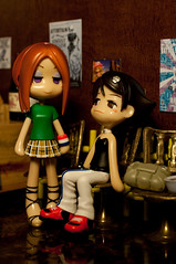 Craig & Tom Extras: Punk Couple (WhyDolls) Tags: coffee shop lesbian toy cafe couple punk doll hipster figure pinkyst pinkystreet westcoast snob tamae pk020 ayume pk003b deadcatgirl