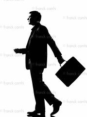 silhouette  man  walking profile with briefcase (Franck Camhi) Tags: shadow people white man male silhouette businessman cutout walking person one 1 holding serious profile fulllength business suit indoors whitebackground studioshot grayscale sideview executive briefcase oneperson caucasian oneman