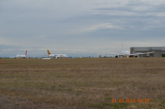 Virgin A330, Tiger Airways A320 and Qantas B767 Melbourne Tullamarine 21 MAR 2013 (denmac25) Tags: tiger melbourne virgin airways qantas tullamarine