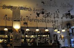 Bronx, Riverdale (Dreamer7112) Tags: nyc newyorkcity ny newyork menu restaurant mirror bronx letters bistro lamps riverdale
