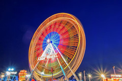 #RX1A0611 - Turning Freij Wheel (crimsonbelt) Tags: city wheel festival night lights long exposure dubai freij