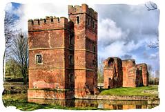Kirby Muxloe Castle and moat! (**Hazel**) Tags: leicestershire framed hazel moat kirbymuxloecastle