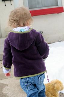 Fleece coat for Spring