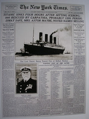 The New York Times 16th of April 1912. (Jimmy Big Potatoes) Tags: disaster iceberg titanic northatlantic rmstitanic