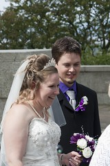 Happy Bride (bryanpage) Tags: flowers wedding tiara smile happy groom bride necklace veil teeth pearls suit lancaster bouquet weddingdress bridegroom bryanpage williamsonpark ashtonmemorial michellepage