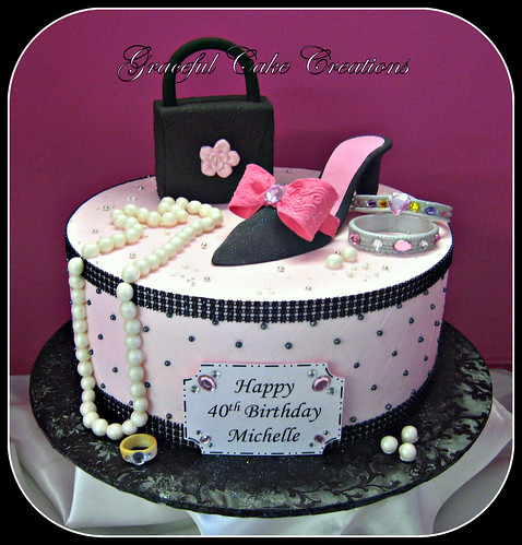 Elegant Fashionista Birthday Cake