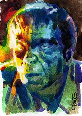 The Ghoul Art by Luis Diaz-2 (Luis Diaz Art) Tags: boriskarloff theghoul artofrobertaragonsketchcards artbyluisdiaz