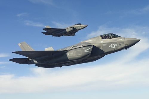 F-35B and F-35C Fly in Formation