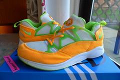Nike Air Huarache Racer 'White / Fluorescent Lime / Citrus' ('94). (gooey_wooey) Tags: vintage sneakers trainers nike og kicks racer huarache nikeair