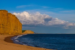 West bay in the morning (frankshepherd2) Tags: canon seascape beach morning jurassiccoast sandstone sea cliffs seashore coast dorset broadchurch westbay