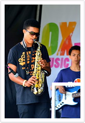 Sax In The Park (dhcomet) Tags: london herne hill brockwell park lambeth country show stage musician sax saxophone guitar music
