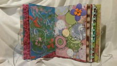 I love using a variety of papers for journal pages such as gelli plate prints, scrapbook page leftovers, boutique bags, book pages and more. Great way to use up my stash! #mixedmedia #artjournal (JavaJunkieKrista) Tags: artjournal mixedmedia