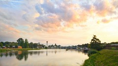 Sunset over the Labe river (BretislavValek) Tags: sunset wonderful pardubice zdymadlo locks clouds labe river elbe lg g4