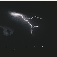 Flash in the night (silviadugheria) Tags: sky temporale fulmine flash