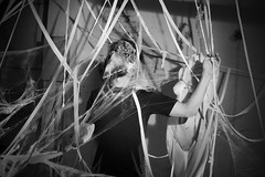 () Tags: mask mascara black white portrait retrato manequeen maniqui spiderwebs