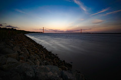 The Mighty Humber. (J.D.S) Tags: sony a6000 ilce6000 hull kingstonuponhull humberbridge zomeind1000 samyang12mm landscape yorkshire