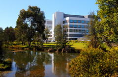 2016-08-16 Park Central (Ggreybeard) Tags: water lake pond reflections hospital campbelltown nsw parkcentral
