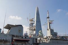 HMS Belfast & The Shard (myfrozenlife) Tags: theshard riverthames england london travel boattrip greatbritain uk englang boat canon trip 7d vacation unitedkingdom gb