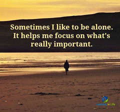 I Like To Be Alone (learninginlife) Tags: alone focus important like sometimes