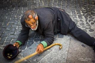 The Fake Beggar - Rome, Italy