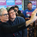 Jamie Lee Curtis with supporters