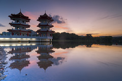 Sunset (ystan) Tags: sunset weather reflection chinese garden jurong lake 20mmaisf28