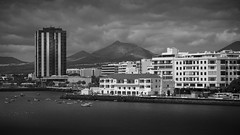 Arrecife in mono (Brad@Shaw) Tags: lanzarote arrecife spain espana hotel granhotel waterfront buildings architecture cloudy clouds seafront canonef24105mmf4lisusm canon europe blackwhite blackandwhite mono monochrome